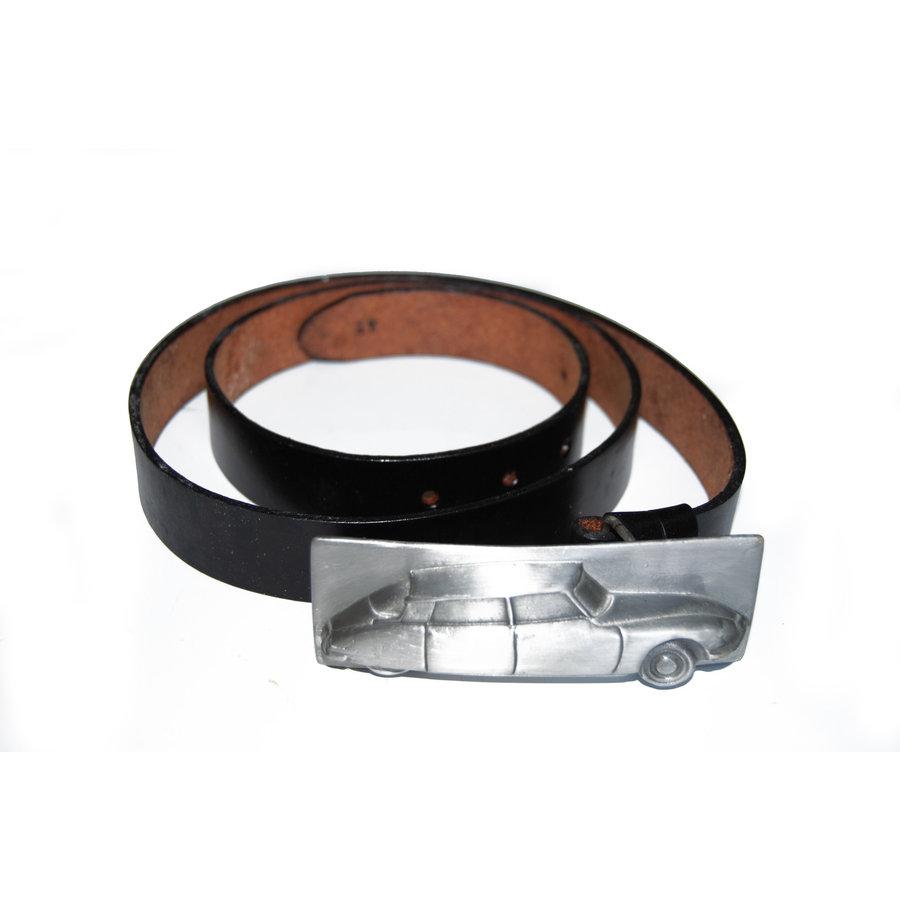 Ledergürtel mit Schnalle Größe 54 (inch)-1