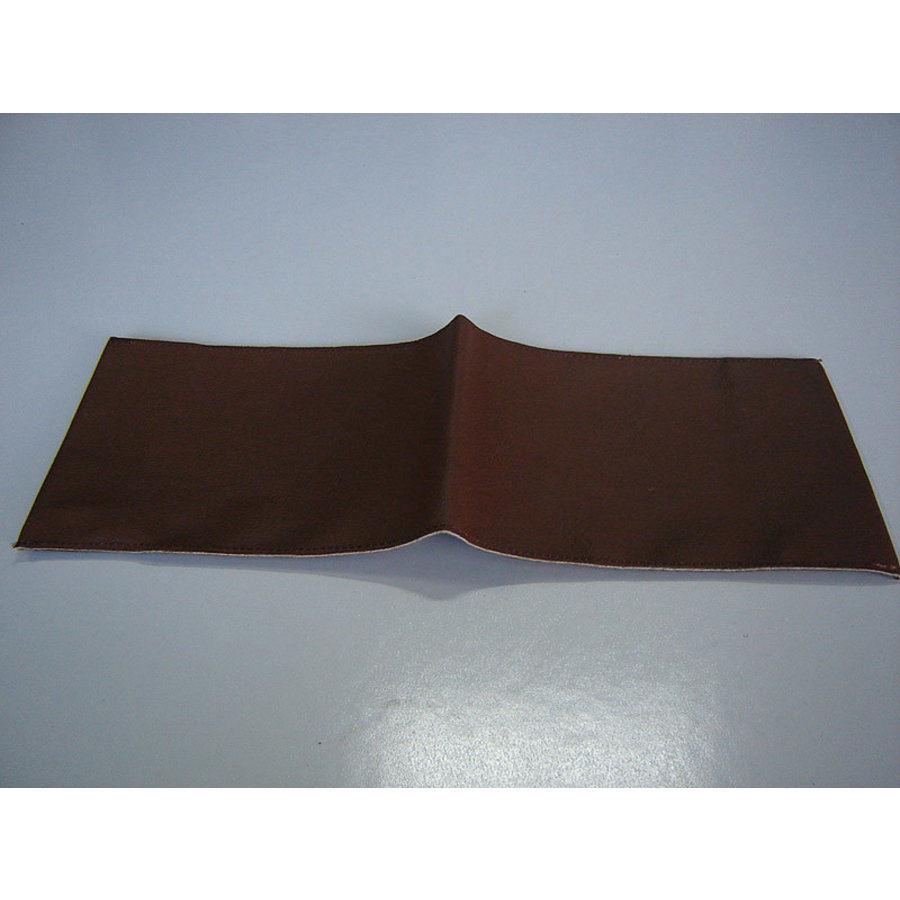 Cover made of dark brown leather for instruction manual (145 x 190) Citroën Accessoire-1