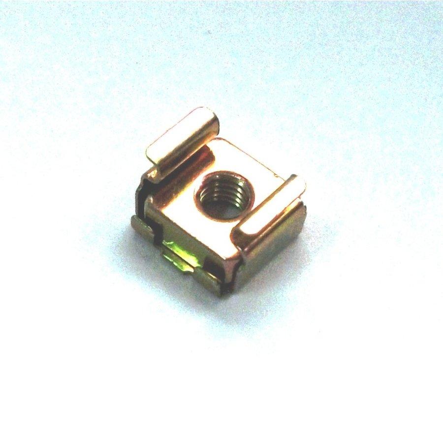 Ecrou-cage M5 zinqué jaune-1