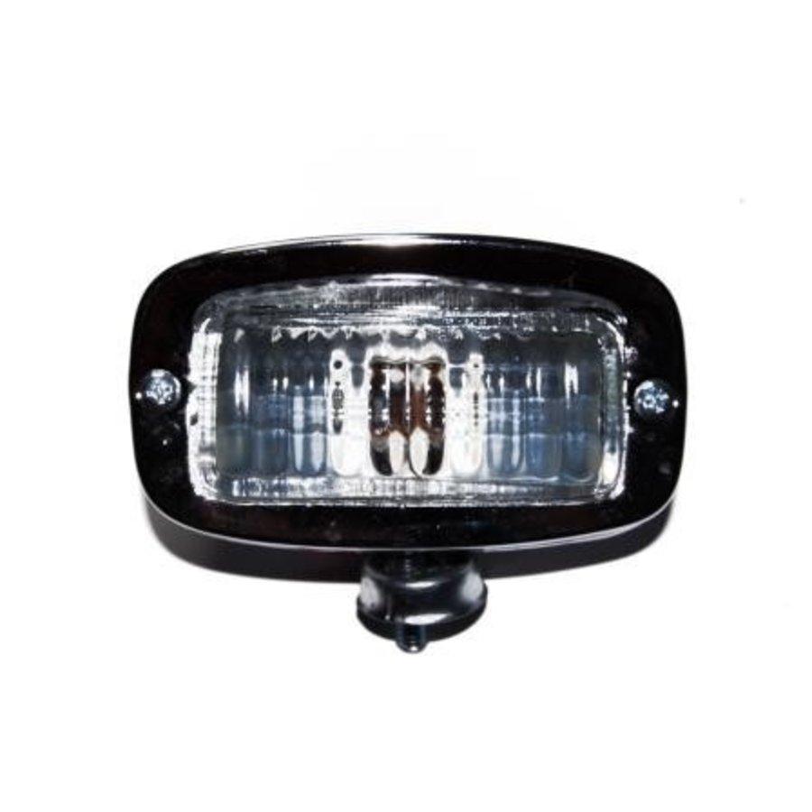 Backup light metal with chroom glass cover universal-1