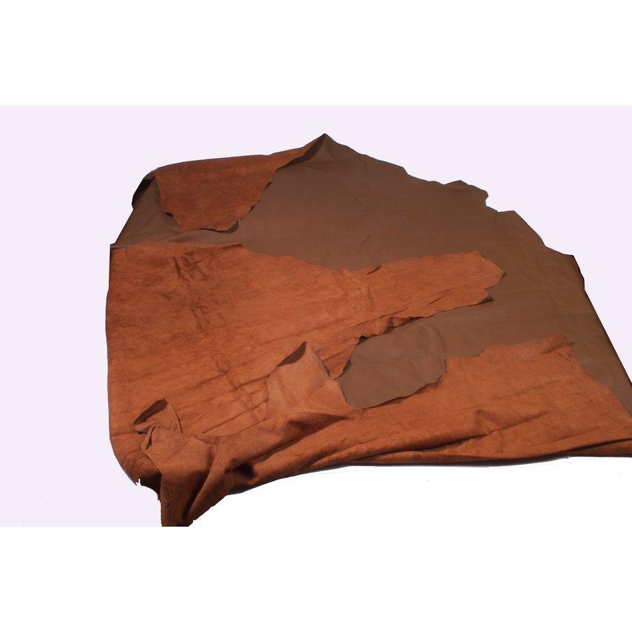 Lederhaut wie gewachsen dunkelbraun (Preis pro QuadratfuUpholsteryLeather-1