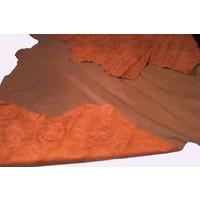 thumb-Cuir peau marron (prix au pied carre (ft2) 1 M2 = 11 ft2)-3