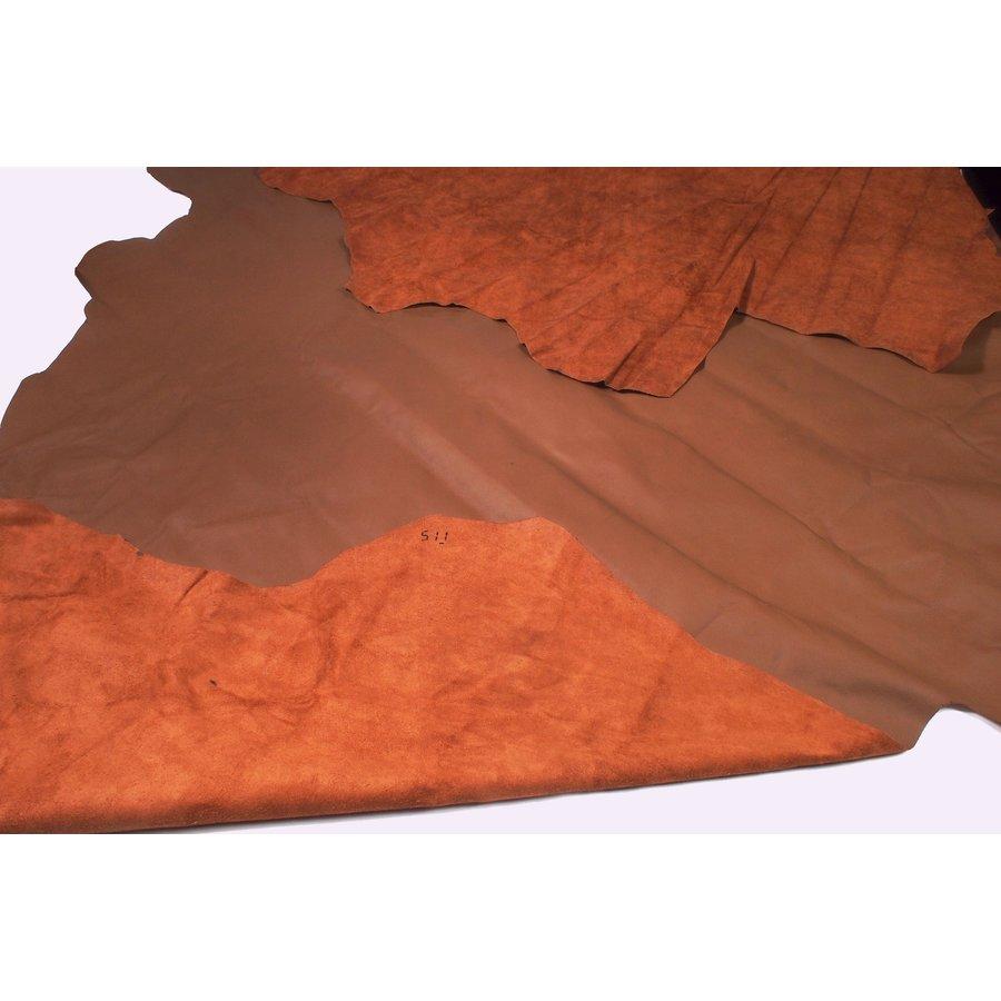 Lederhaut wie gewachsen dunkelbraun (Preis pro QuadratfuUpholsteryLeather-3