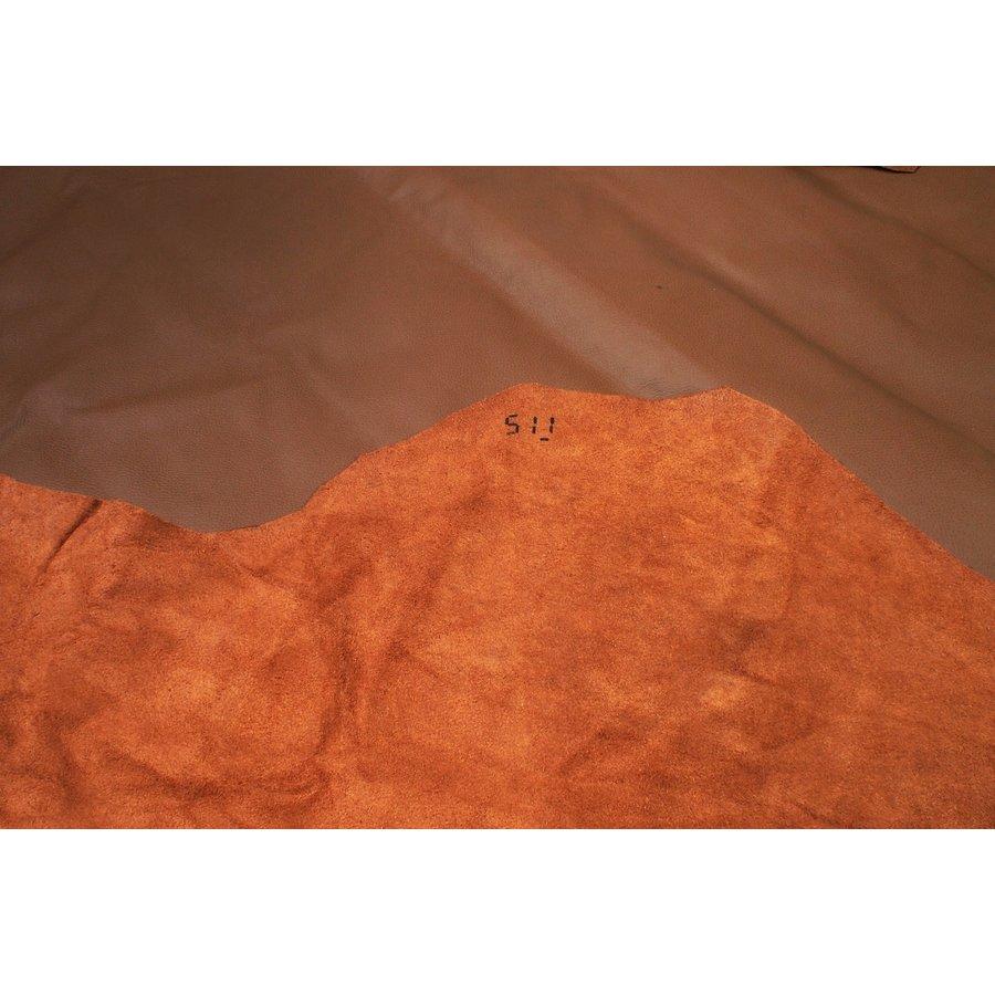 Lederhaut wie gewachsen dunkelbraun (Preis pro QuadratfuUpholsteryLeather-2