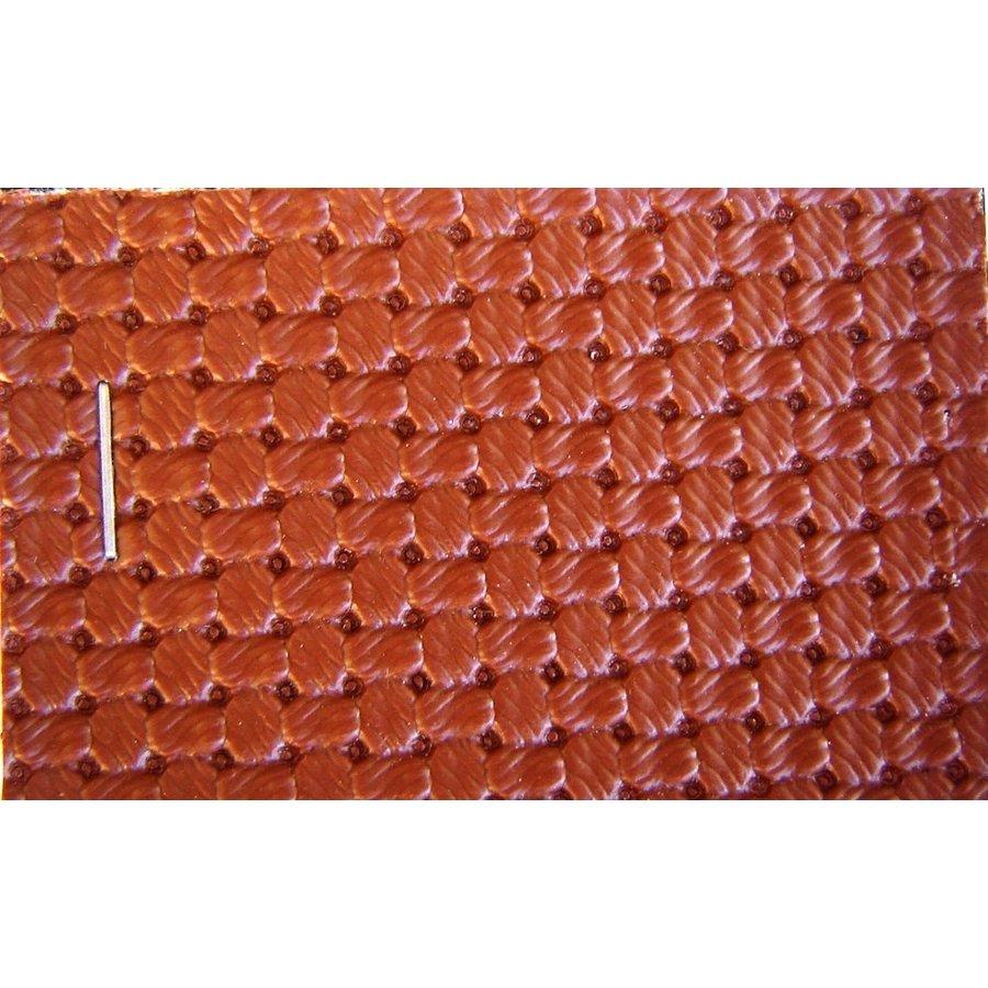 PVC braun Waffelstruktur (Preis pro Meter +/- 150 m breit)UpholsteryMaterial-1