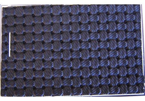 PVC schwarz Waffelstruktur (Preis pro Meter +/- 150 m breit)UpholsteryMaterial