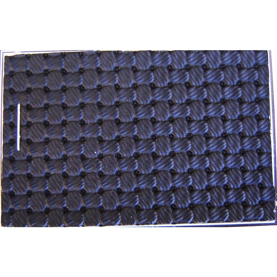 PVC schwarz Waffelstruktur (Preis pro Meter +/- 150 m breit)UpholsteryMaterial-1