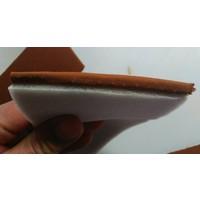 thumb-Etoffe couleur caramel + 3 mm de mousse (prix au metre largeur +/- 150 M)-1