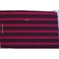 Red cloth `bayadère` (striped) (price per meter width +/- 150 M)