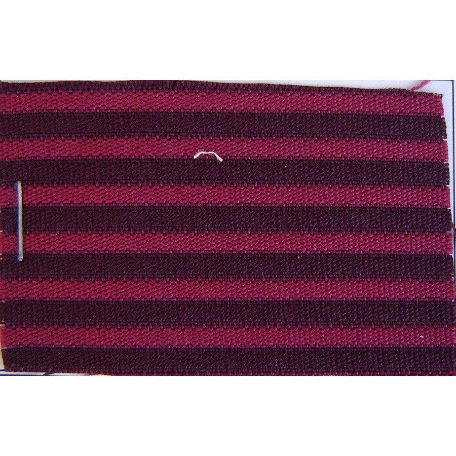 Red cloth `bayadère` (striped) (price per meter width +/- 150 M)-1
