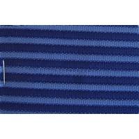 Etoffe couleur bleu `bayadère` (prix au metre largeur +/- 150 M)