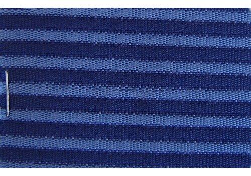 Tecido azul listrado`bayadère` (preço por M, largura +/- 1.50 M)