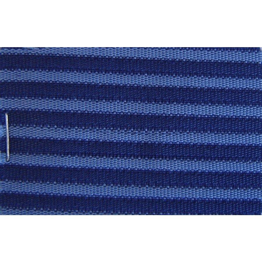 Etoffe couleur bleu `bayadère` (prix au metre largeur +/- 150 M)-1