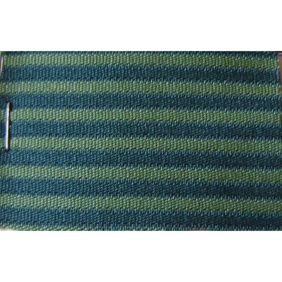Green cloth `bayadère` (striped) (price per meter width +/- 150 M)-1