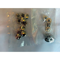 thumb-Set of 10 rivets [size of head is 13 mm] chromed metal Citroën-1