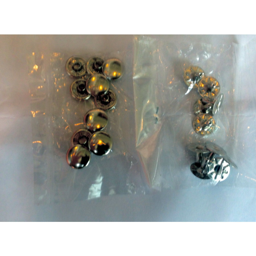 Set of 10 rivets [size of head is 13 mm] chromed metal Citroën-1