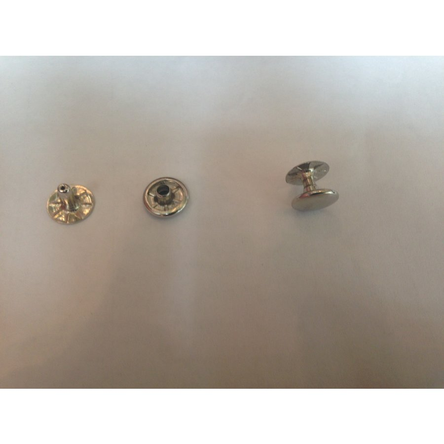 Set of 10 rivets [size of head is 13 mm] chromed metal Citroën-2