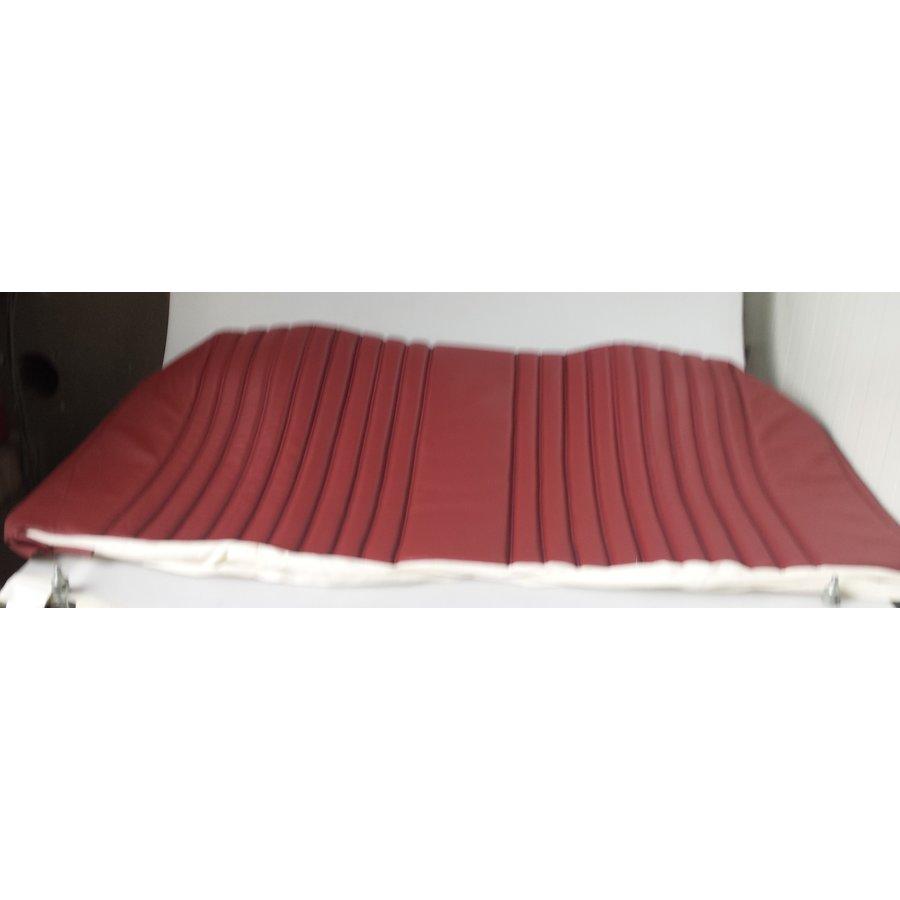 Garniture origine banquette AR BL cuir rouge (assise 1 pièce dossier 4 pièces) Citroën ID/DS-1