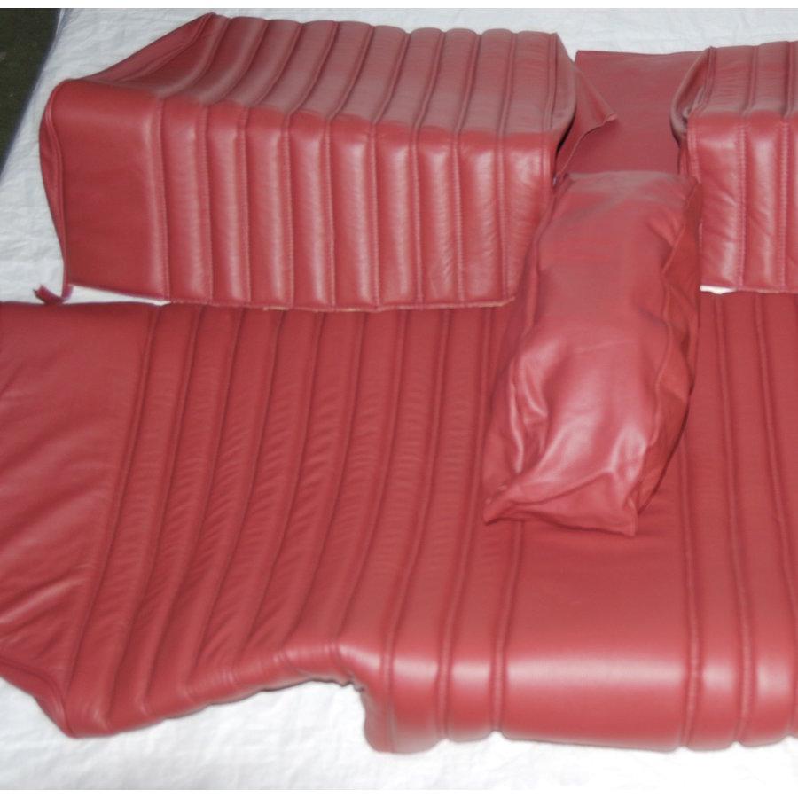 Garniture origine banquette AR BL cuir rouge (assise 1 pièce dossier 4 pièces) Citroën ID/DS-3