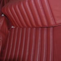 thumb-Garniture origine banquette AR BL cuir rouge (assise 1 pièce dossier 4 pièces) Citroën ID/DS-4