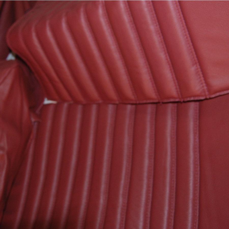 Original Sitzbezug Satz für Hinterbank leder-bezogen rot (Sitz 1 Teil Rückenlehne 4 Teile) Citroën ID/DS-4