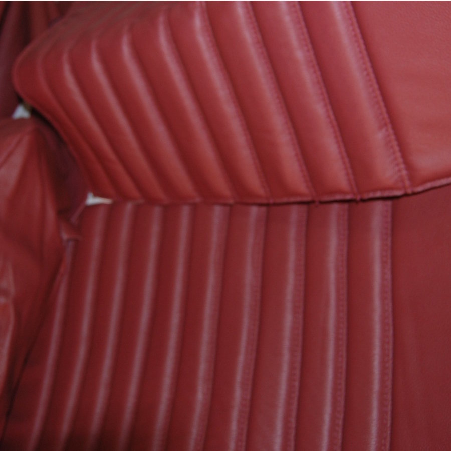Rear bench cover red leather Citroën ID/DS-4