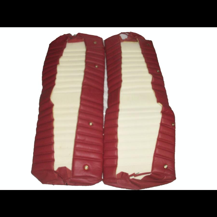 Garniture origine banquette AR BK cuir rouge (assise 1 pièce dossier 1 pièce) Citroën ID/DS-1