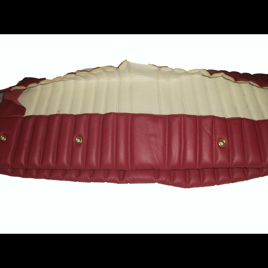 Garniture origine banquette AR BK cuir rouge (assise 1 pièce dossier 1 pièce) Citroën ID/DS-2
