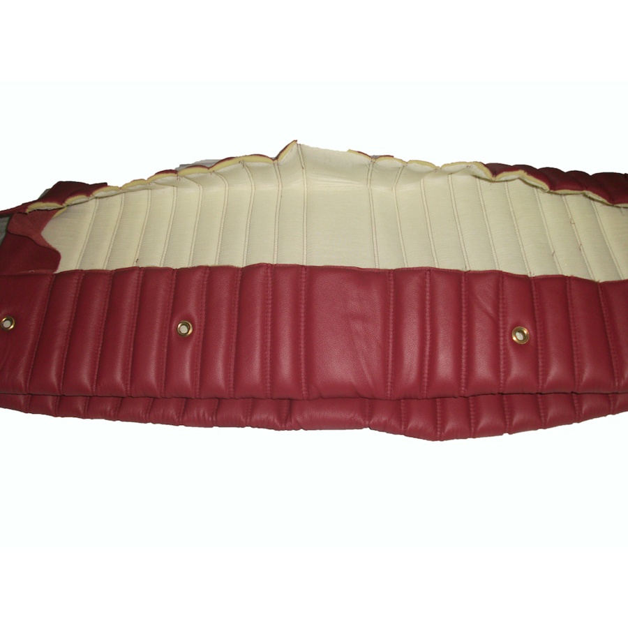 Rear bench cover red leather safari Citroën ID/DS-2