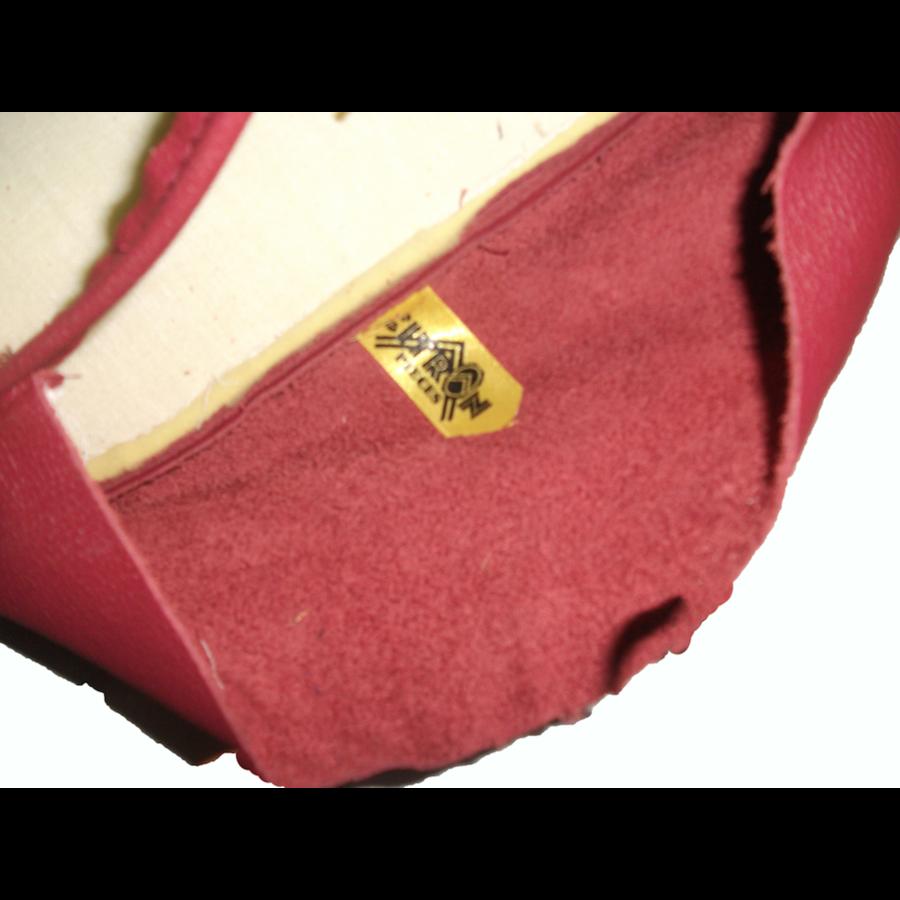 Garniture origine banquette AR BK cuir rouge (assise 1 pièce dossier 1 pièce) Citroën ID/DS-3
