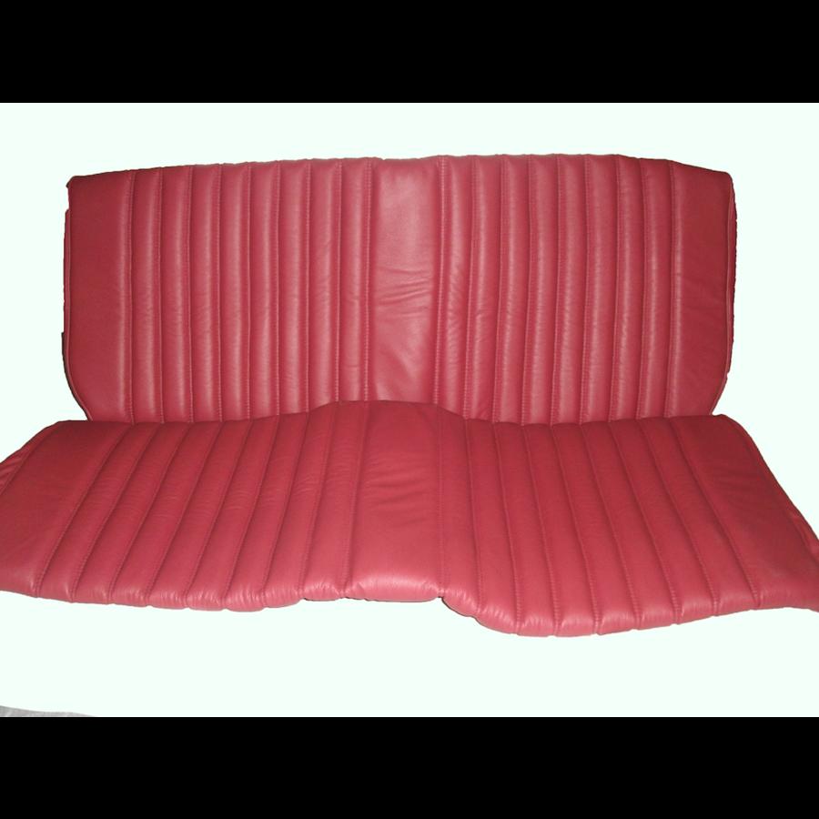 Garniture origine banquette AR BK cuir rouge (assise 1 pièce dossier 1 pièce) Citroën ID/DS-4