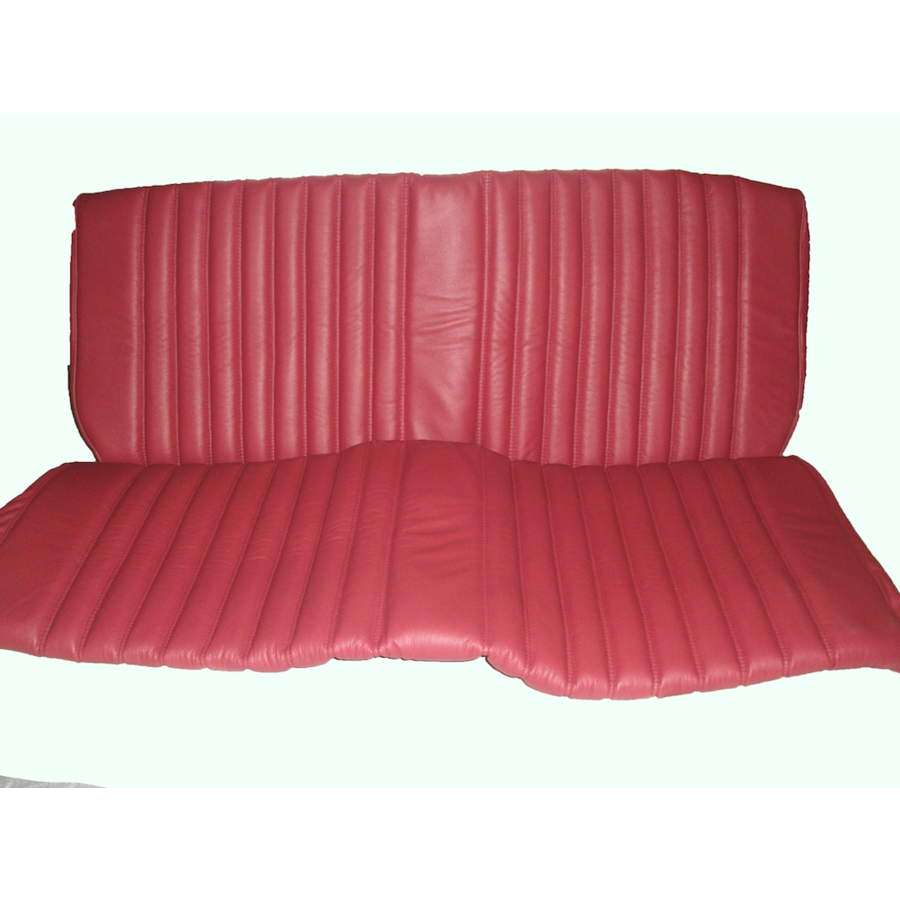 Rear bench cover red leather safari Citroën ID/DS-4