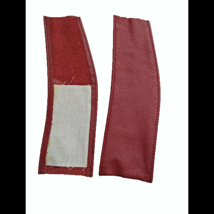 Lederlappen [2] rechts und links Abdeckung für Feder-Vordersitz <-68 rot Citroën ID/DS-2