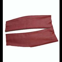 thumb-Lederlappen [2] rechts und links Abdeckung für Feder-Vordersitz <-68 rot Citroën ID/DS-3