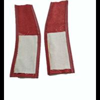thumb-Lederlappen [2] rechts und links Abdeckung für Feder-Vordersitz <-68 rot Citroën ID/DS-5