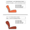 ID/DS Front seat cover red leather for foam back Citroën ID/DS