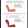 ID/DS Garniture origine siège AV cuir rouge (assise dossier panneau de fermeture pour dossier en mousse) Citroën ID/DS