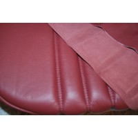 thumb-Front seat cover red leather for foam back Citroën ID/DS-2