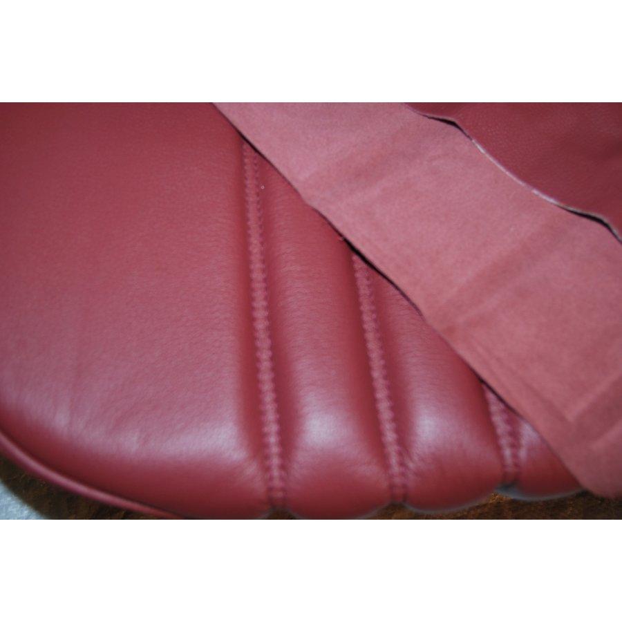Original Sitzbezug Satz für Vordersitz leder-bezogen rot (Sitz Rückenlehne Abschlussfüllung für Schaum-Rücken) Citroën ID/DS-2