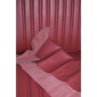 thumb-Front seat cover red leather for foam back Citroën ID/DS-3