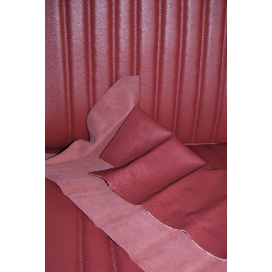 Front seat cover red leather for foam back Citroën ID/DS-3