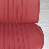 thumb-Front seat cover red leather for foam back Citroën ID/DS-4
