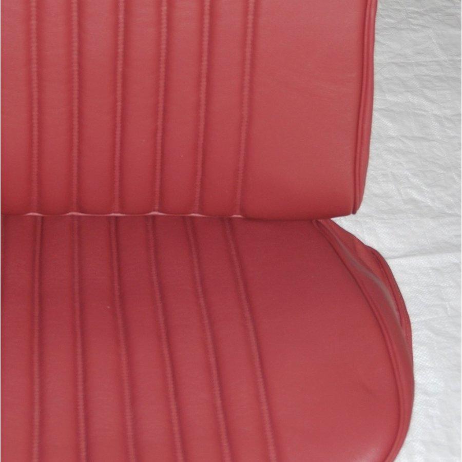 Original Sitzbezug Satz für Vordersitz leder-bezogen rot (Sitz Rückenlehne Abschlussfüllung für Schaum-Rücken) Citroën ID/DS-4