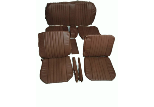 Seat cover set (2 front 1 rear) in brown leatherette Citroën ID/DS