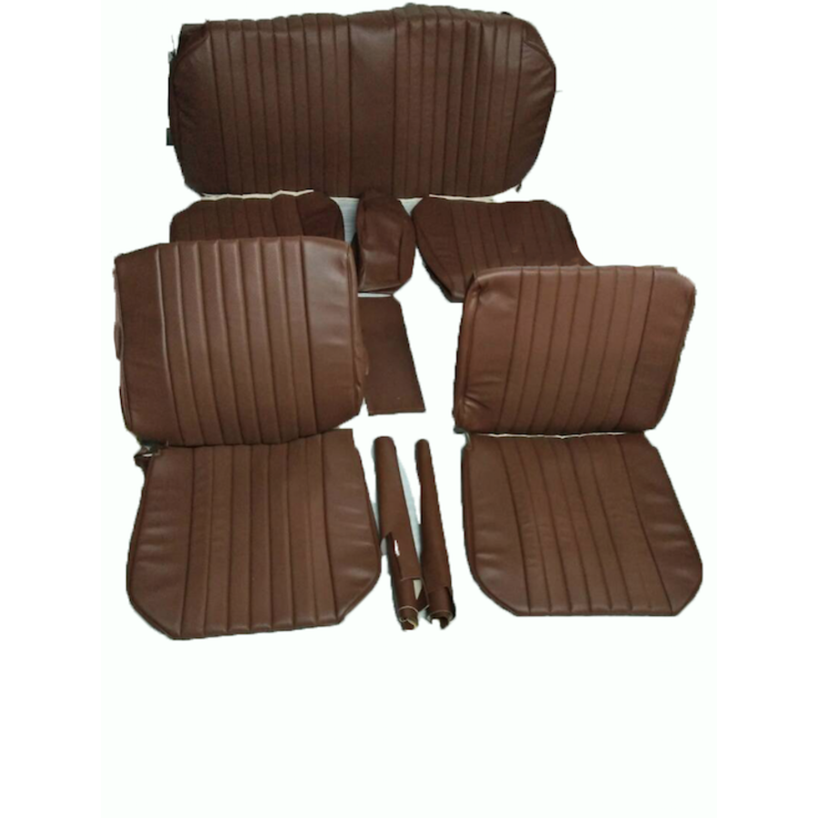 Seat cover set (2 front 1 rear) in brown leatherette Citroën ID/DS-1