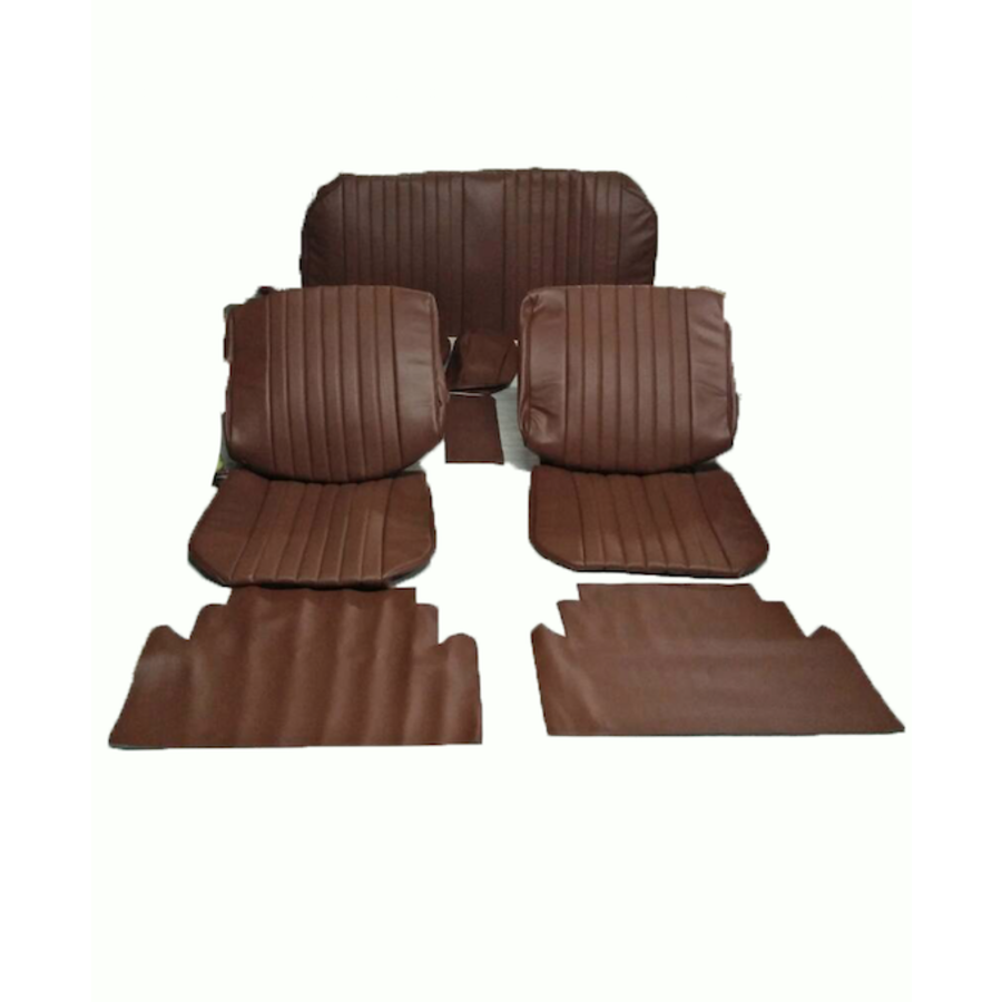 Seat cover set (2 front 1 rear) in brown leatherette Citroën ID/DS-2