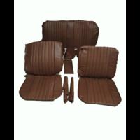 thumb-Voorstoelhoezen [2] plus achterbankhoes bruin skai Citroën ID/DS-3
