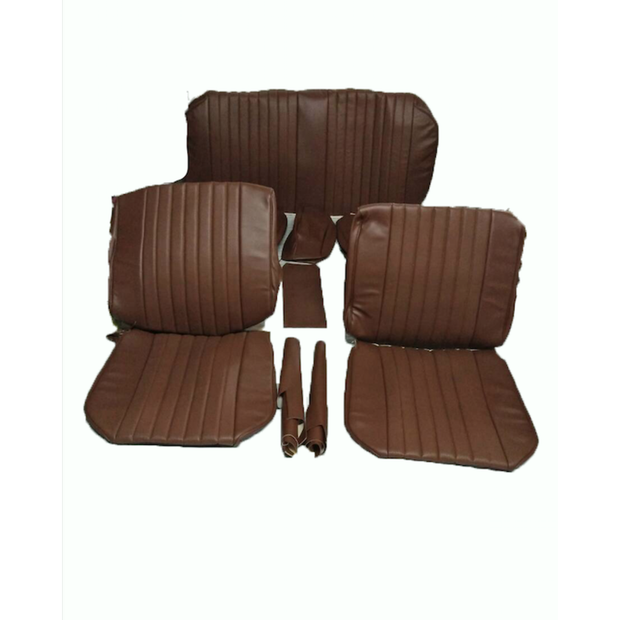 Seat cover set (2 front 1 rear) in brown leatherette Citroën ID/DS-3