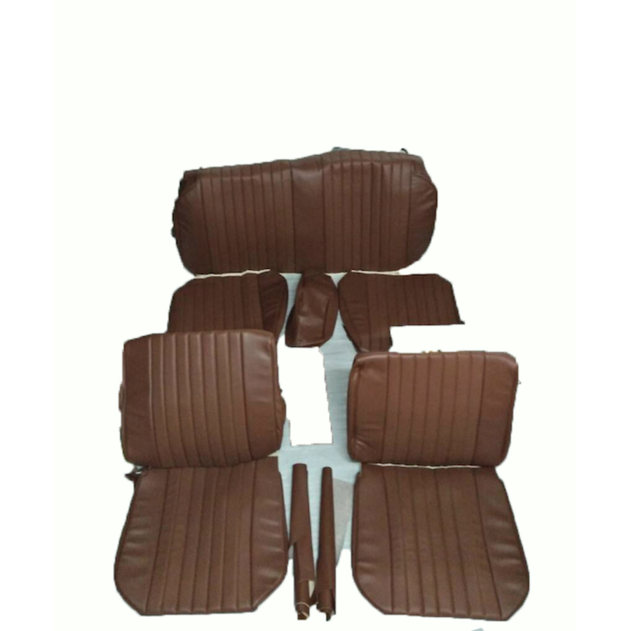 Seat cover set (2 front 1 rear) in brown leatherette Citroën ID/DS-4