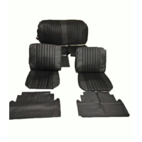 thumb-Seat cover set (2 front 1 rear) in black leatherette Citroën ID/DS-1